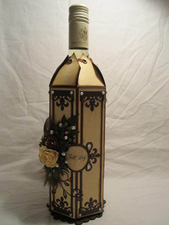 Vinflaske dekration med Tag till 002