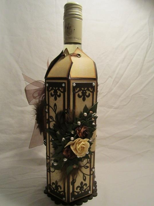 Vinflaske dekration med Tag till 003