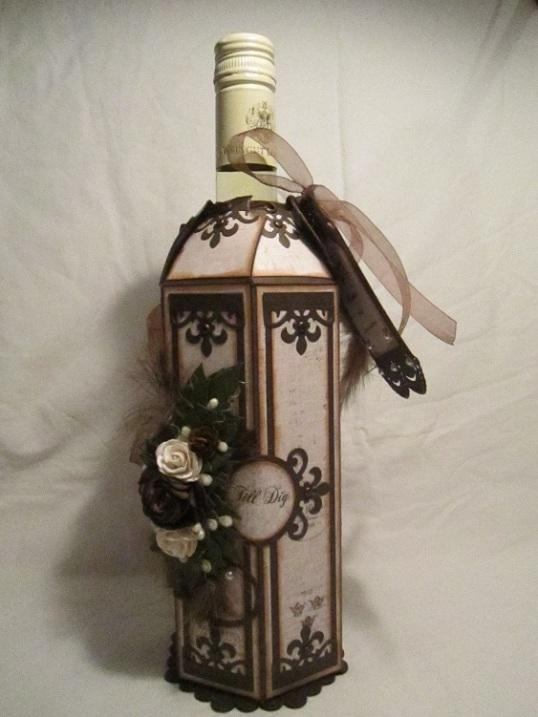 Vinflaske dekration bordsplaseringskort och servetthållare 003