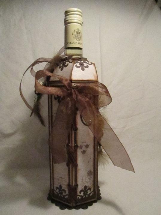 Vinflaske dekration bordsplaseringskort och servetthållare 005
