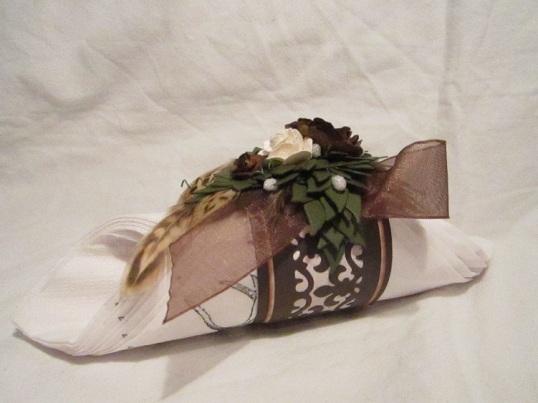 Vinflaske dekration bordsplaseringskort och servetthållare 011