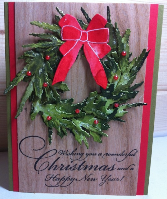 Spellbinders Build a Wreath 2