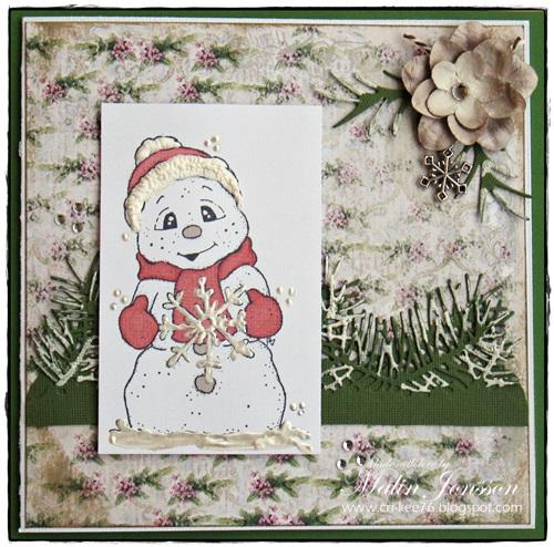 Julkort Magnolia Snögubbe