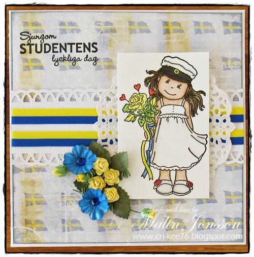 Studentkort med flaggor
