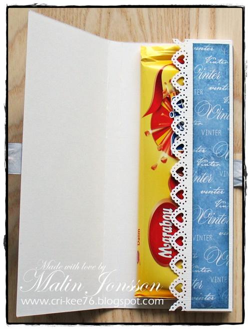 Vinter chokladkort insida