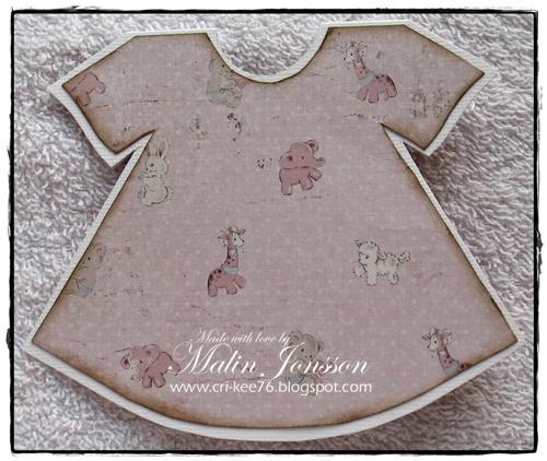 Babyklänning baksida